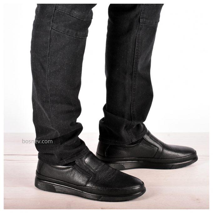 Мъжки обувки ЕСТЕСТВЕНА КОЖА в черно 907
