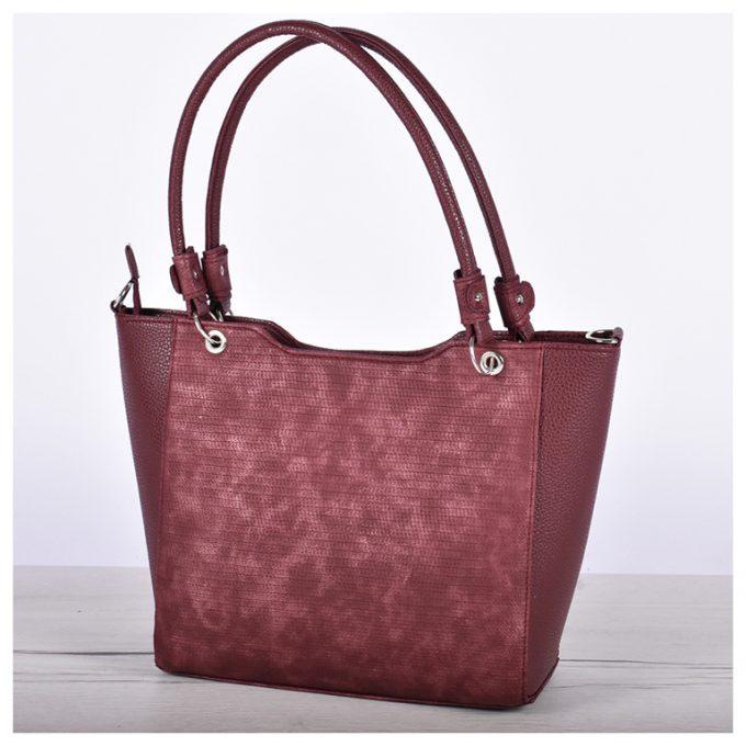 Дамска чанта в бордо 2109-2