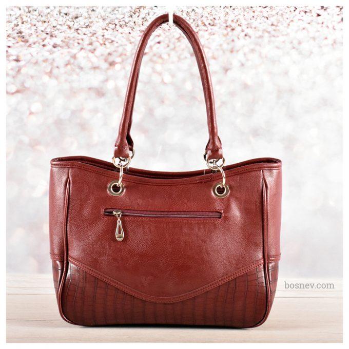 Дамска чанта в бордо 2177