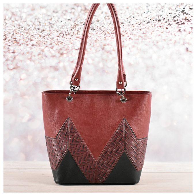 Бордо - дамска чанта