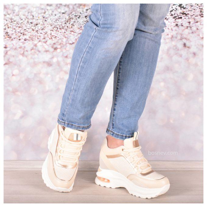 Дамски спортни обувки в бежово 30-2