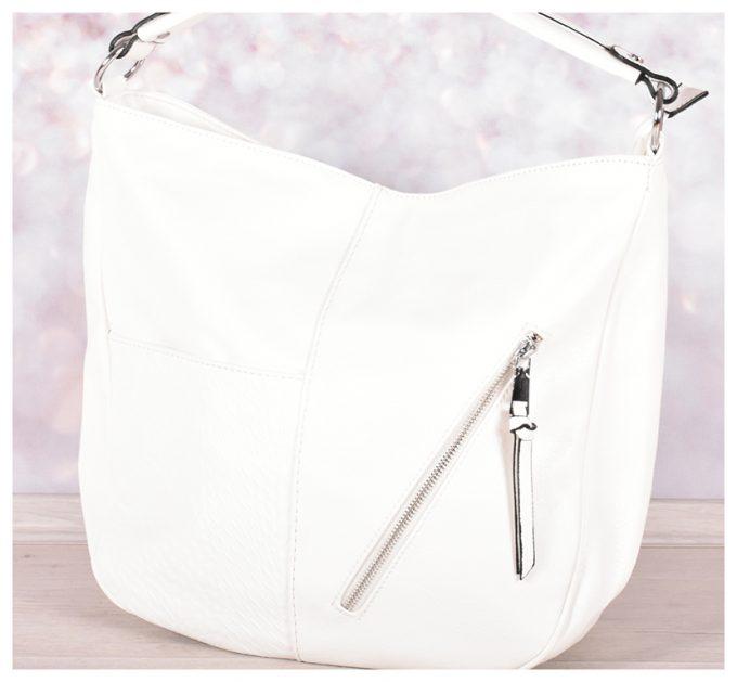 Бяла дамска чанта
