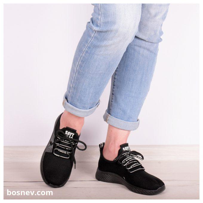 Дамски спортни обувки в черно 8147