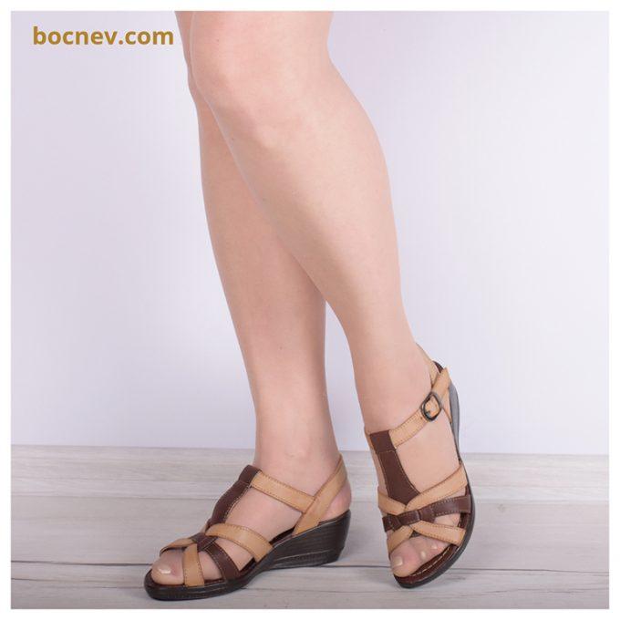 Дамски сандали в кафяво 117
