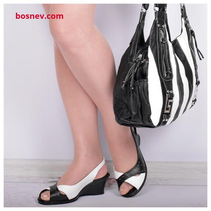 Дамски комплект черно и бяло 7456-1К