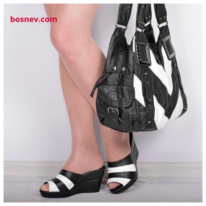 Дамски чехли в комплект с чанта
